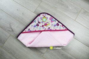 Sortie de bain rosette piou - Creakiwi