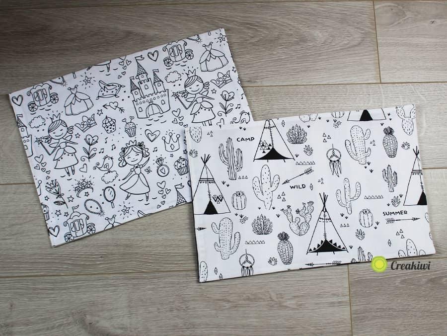 Set de table à colorier pour enfants impatients