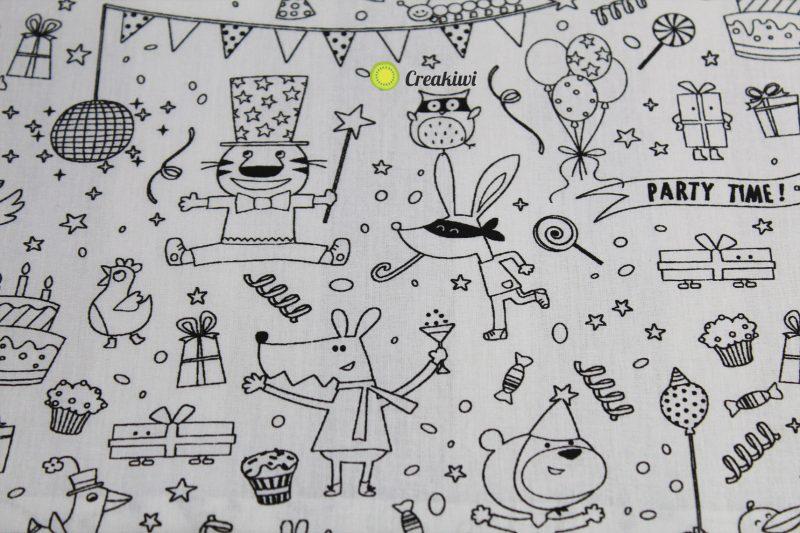 Set de table à colorier motif party