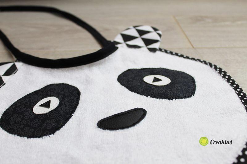 Bavoir Panda Noir et blanc