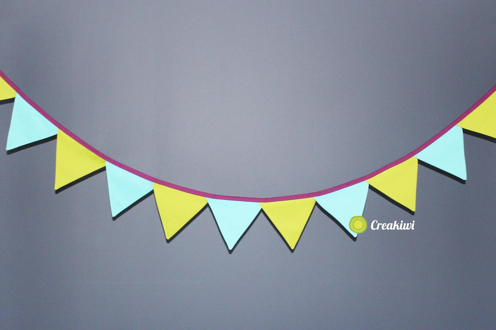 Guirlande fanions, guirlande guinguette et décorative, créatrice couture