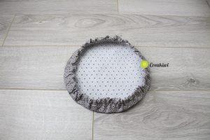 Couvercle écologique en tissu enduit pour saladier 22cm
