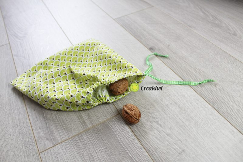 Lot de 2 sacs à vrac en tissus pour fruits et légumes