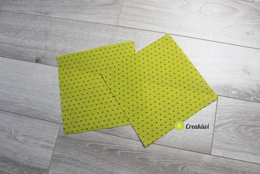 Lot de 2 Bee Wraps carrés vert