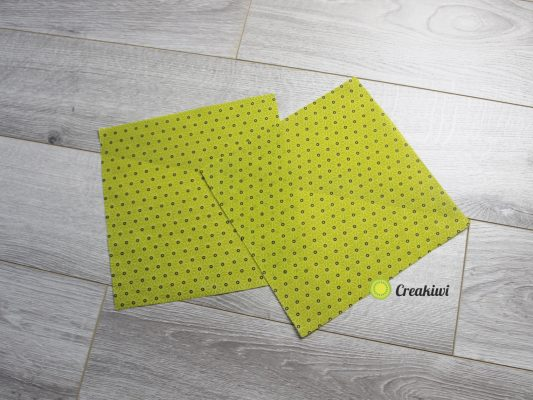 Lot de 2 Bee Wrap carrés vert - emballages réutilisables à la cire d'abeille appelées aussi Bee Wrap