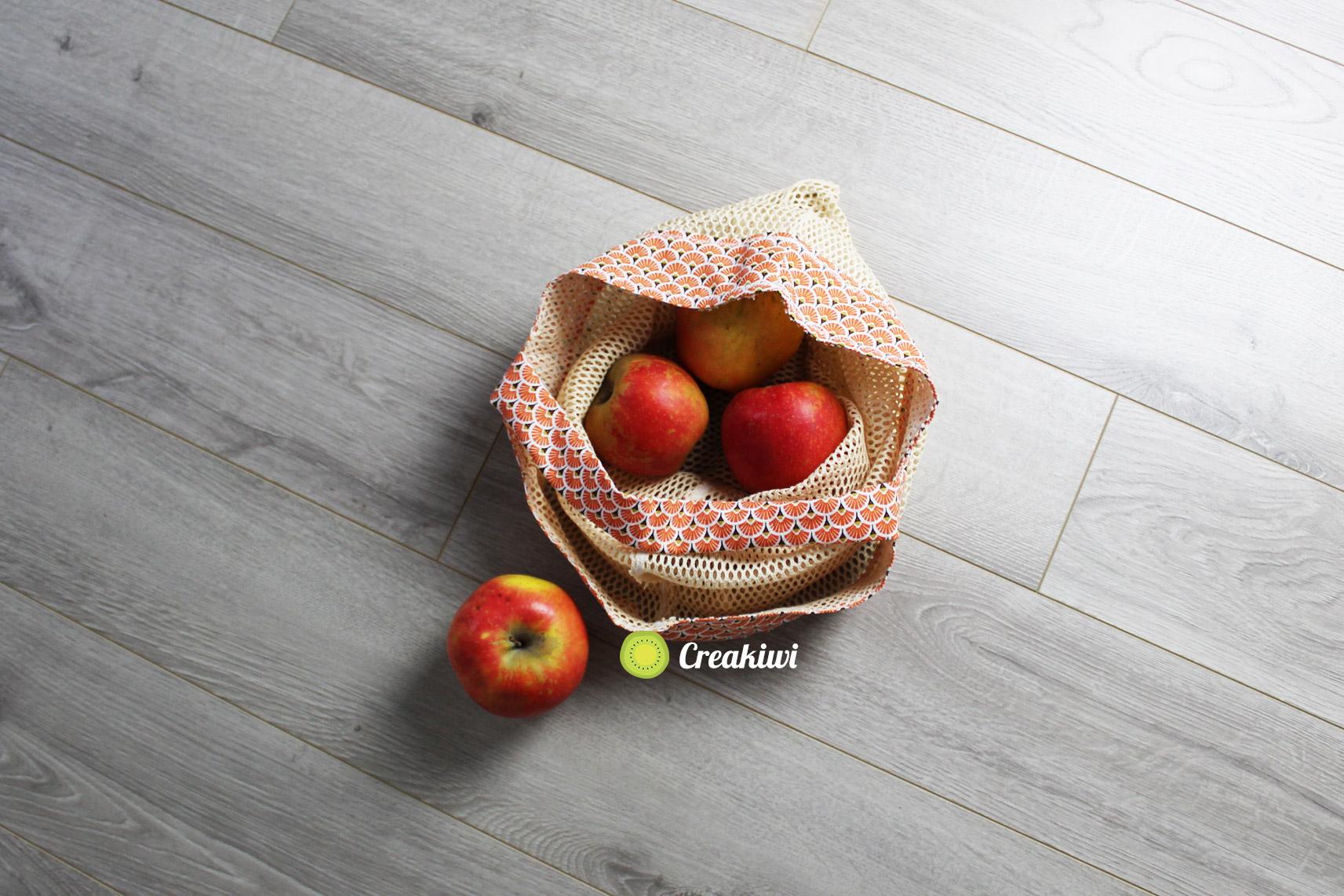 Le sac en filet pour les fruits en vrac