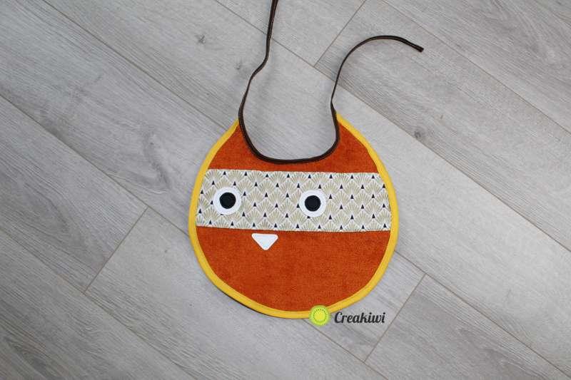 Bavoir Chat orange Creakiwi