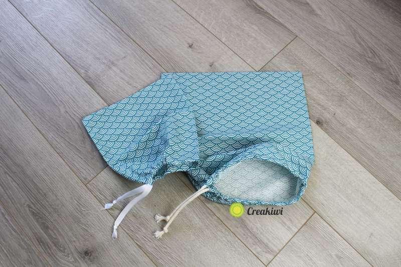Lot de 2 sacs à vrac refermables bleu 2 formats Creakiwi Produit zero dechet pour épicerie