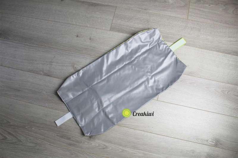 Emballage lavable vert pour sandwich demi-baguette