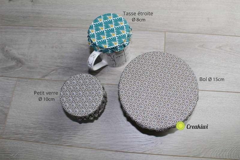Couvercles écologiques en tissu enduit les différents formats
