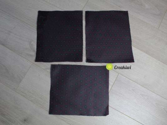 Lot de 3 grands Bee Wraps violet 30x35cm