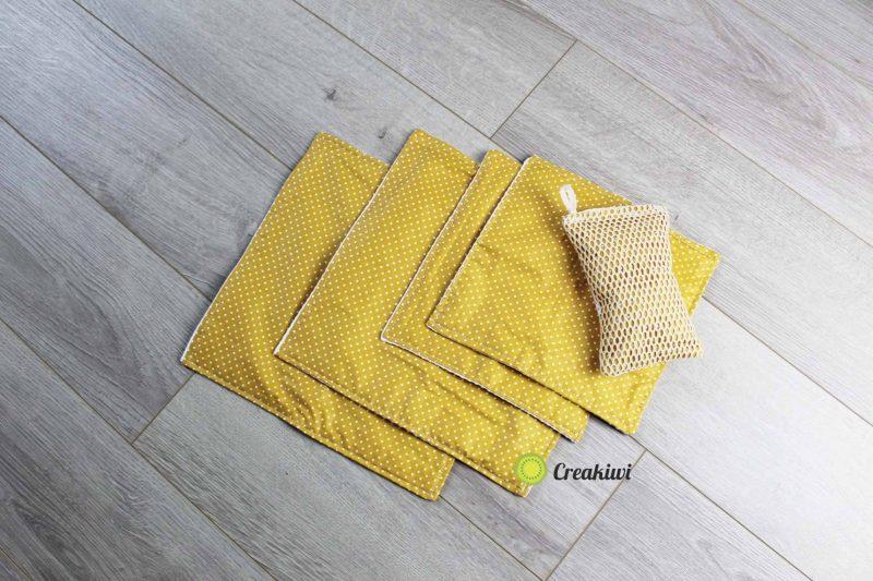 PACK Nid d'abeille blanc et couleur moutarde Creakiwi