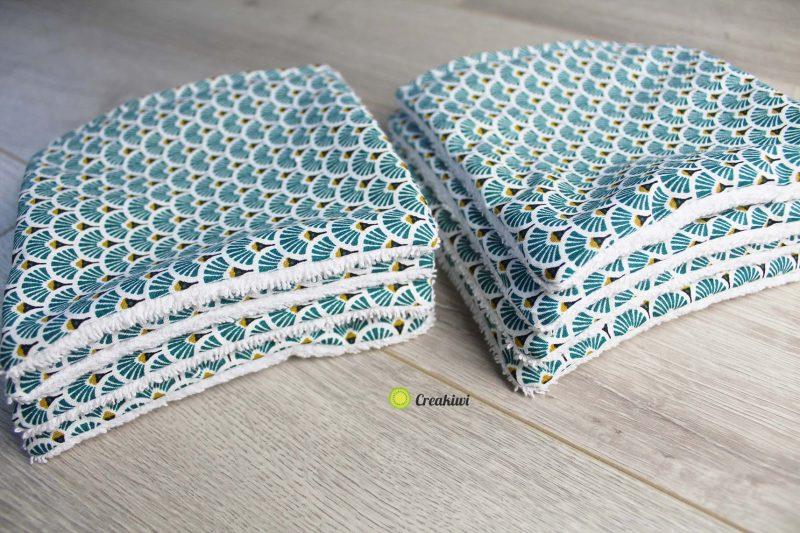 Lot de 8 minis serviettes en éponge 14x14cm